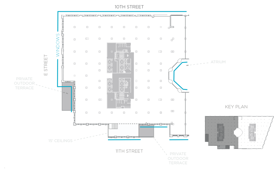 Fourth floor core and shell floor plan